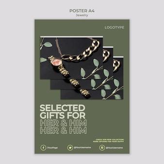 Juwelier flyer vorlage