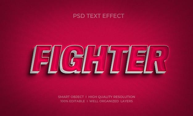 Kämpfer 3d-stil texteffektvorlage