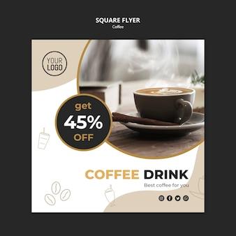 Kaffee-flyer-schablonenkonzept