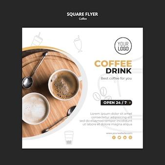 Kaffee flyer vorlage thema