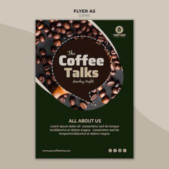 Kaffee flyer vorlage