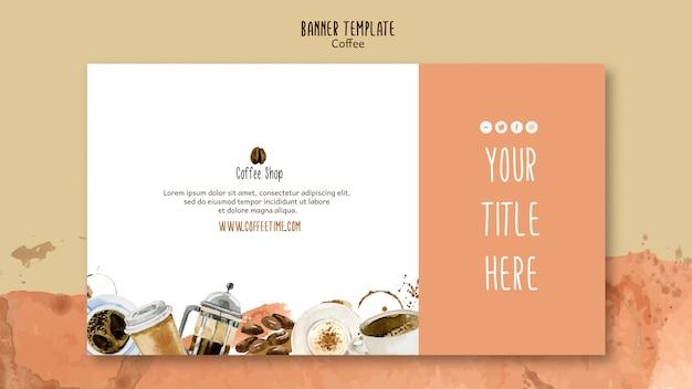 Kaffee-konzept für banner-vorlage