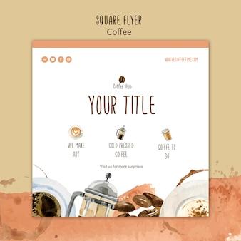 Kaffee-konzept für flyer-vorlage