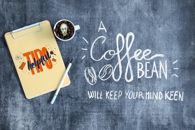 Kaffee-modell mit zwischenablage