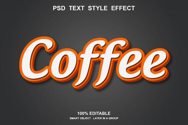 Kaffee-texteffekt