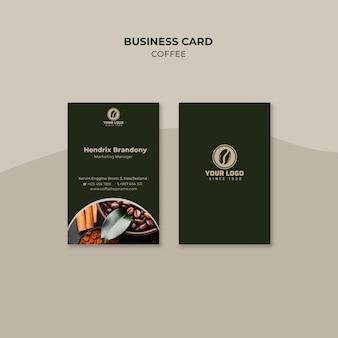 Kaffee-visitenkarte