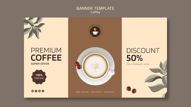 Kaffeefahnenschablone mit rabatt