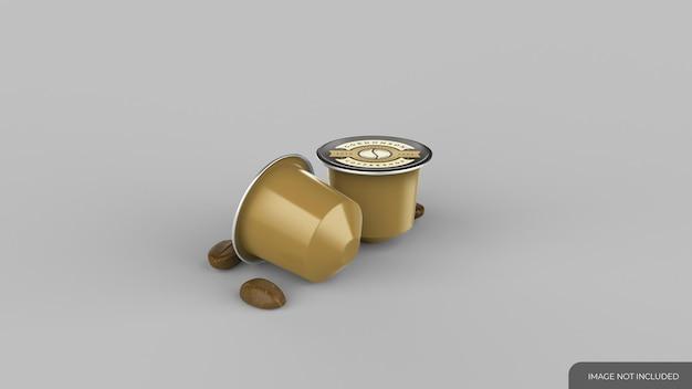 Kaffeekapseln pads mockup