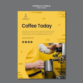Kaffeekonzeptplakatschablone