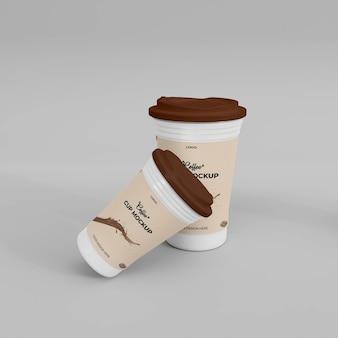 Kaffeetasse 3d realistisches mockup