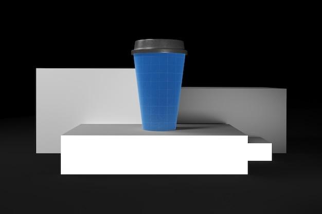 Kaffeetasse auf ebenen