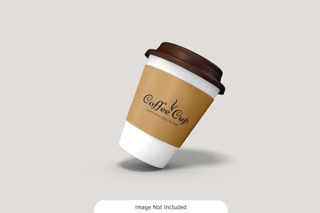 Kaffeetasse mit pappmodell