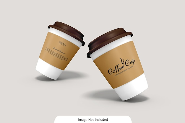 Kaffeetasse mit pappmodell Premium PSD