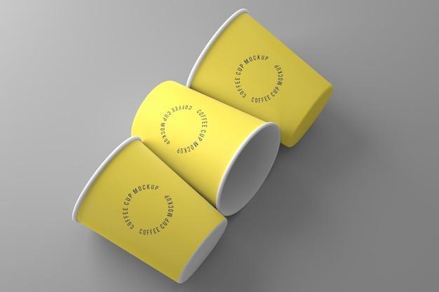 Kaffeetasse mockup design in 3d-rendering