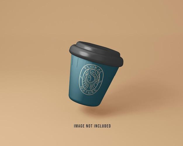 Kaffeetasse mockup sauberer hintergrund