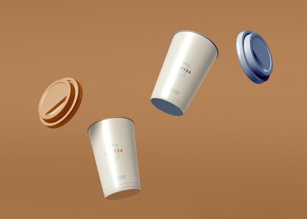 Kaffeetasse mockup zum mitnehmen