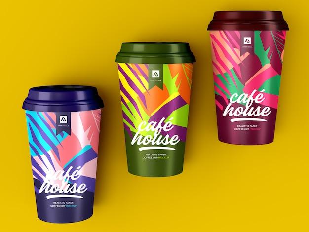 Kaffeetasse modell. kaffeebehälter zum mitnehmen