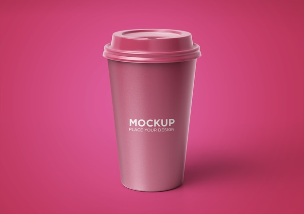 Kaffeetasse modell mit blumenmuster isoliert