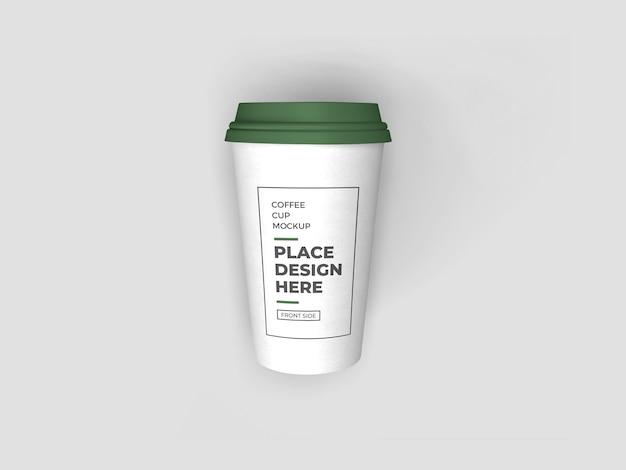 Kaffeetasse verpackung modell isoliert