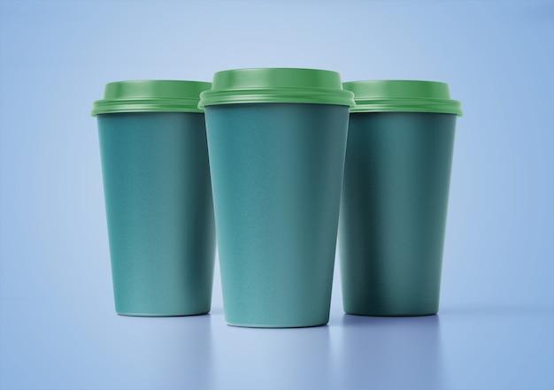 Kaffeetassen-set-modell mit blumenmuster