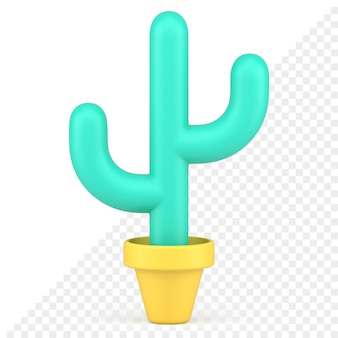 Kaktus 3d-symbol