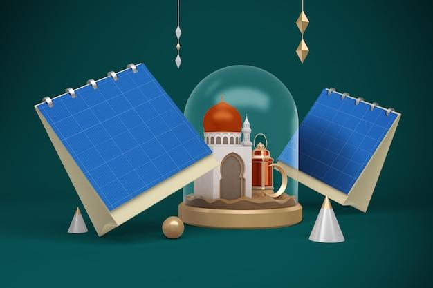 Kalender des ramadan-platzes