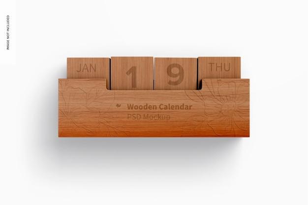 Kalendermodell aus holz, ansicht von oben