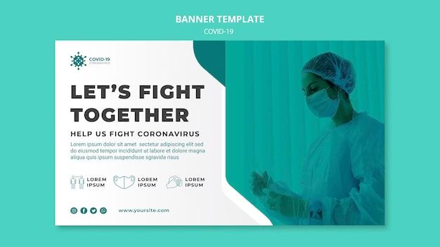 Kampf coronavirus banner vorlage