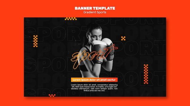 Kampfsport-banner-vorlage