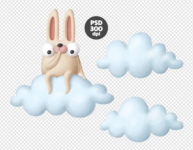 Kaninchen auf der wolke