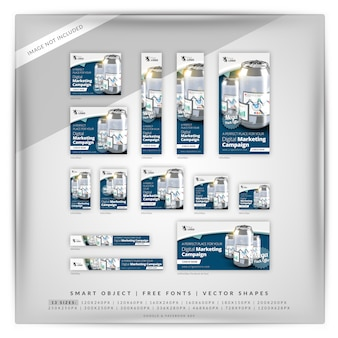 Kann business marketing google banner set