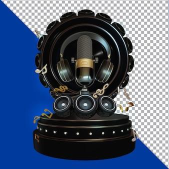 Karaoke 3d render zusammensetzung isoliert