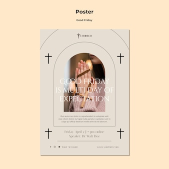 Karfreitag poster vorlage