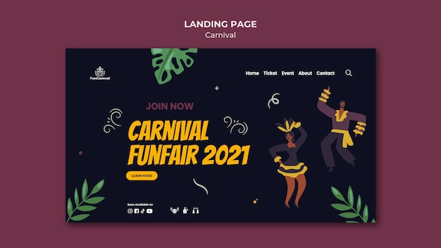Karneval landing page
