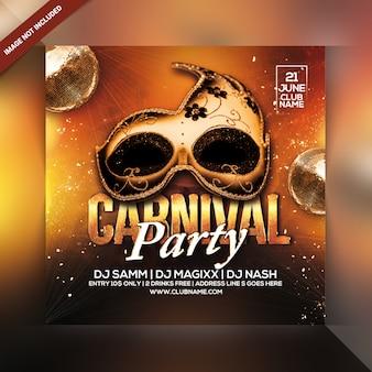 Karneval party flyer