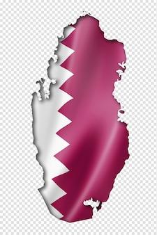 Karte der flagge von katar