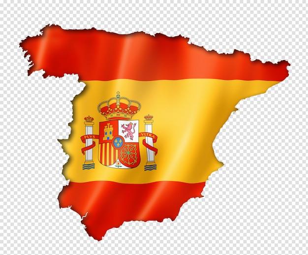 Karte mit spanischer flagge