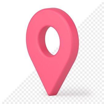 Karte pin 3d-symbol