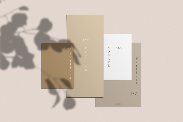 Karten- und einladungsmodell