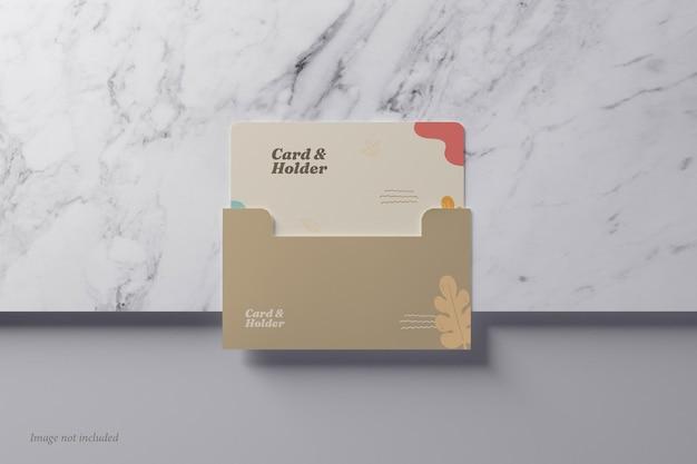 Karten- und haltermodell auf einer draufsicht aus marmorstein
