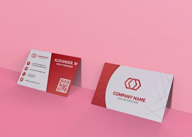 Kartenmarkenunternehmensgeschäfts-mock-up-papier