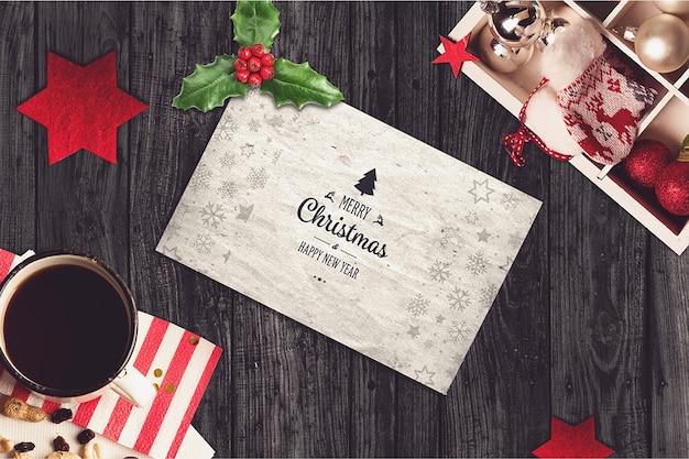 Kartenmodell mit weihnachtsdesign