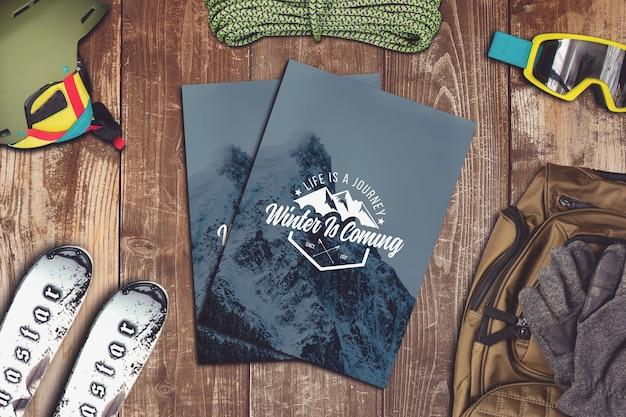 Kartenmodell mit winterdesign