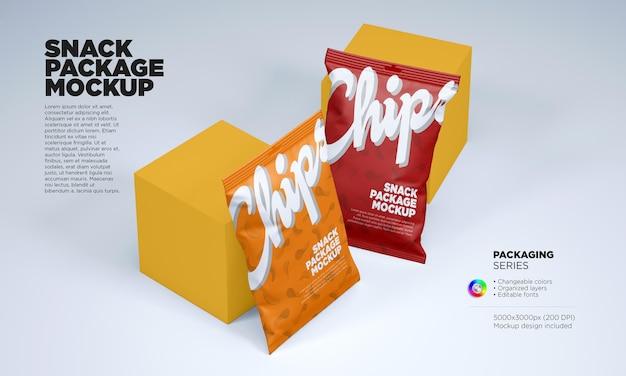 Kartoffelchips oder snackpaket-modell