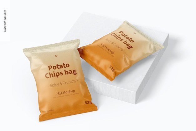 Kartoffelchips taschen mockup