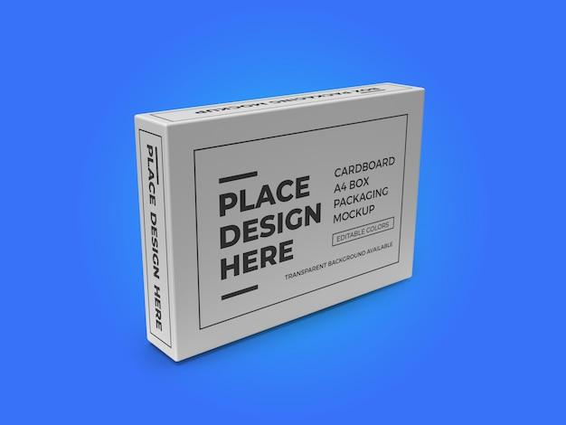 Karton a4 papierbox mockup vorlage psd
