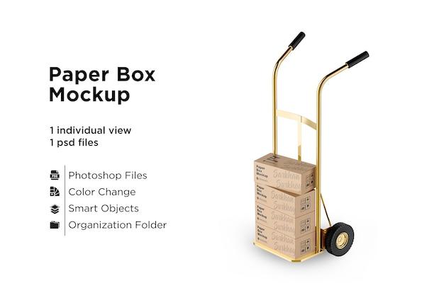 Karton box bulk mockup auf weißem hintergrund