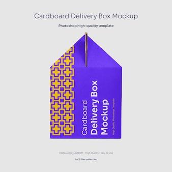 Karton mockup für lebensmittellieferungen
