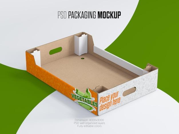Kartonfach für gemüse