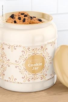 Keramik keksdose mockup, nahaufnahme